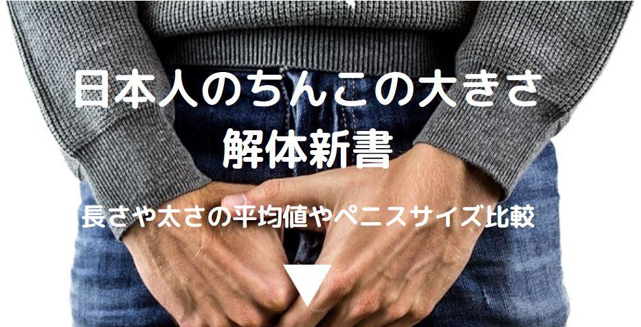 日本人のちんこの大きさ解体新書
